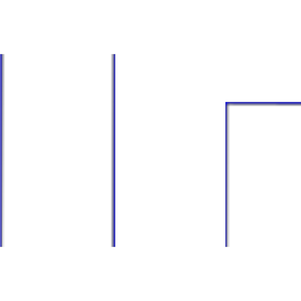 Large Blue Geometric Border PNG Clip art