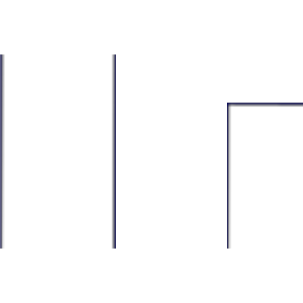 Large Dark Blue Geometric Border PNG Clip art