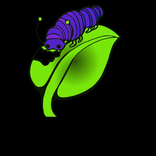 Purple Blue Catepillar PNG Clip art