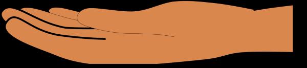 Blue Hand PNG Clip art