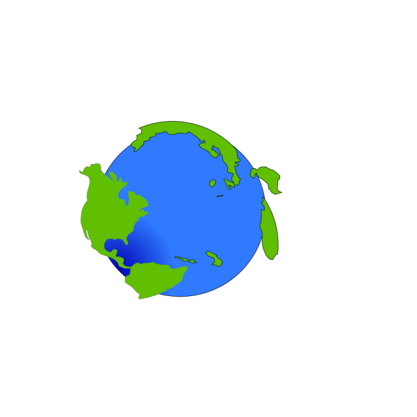 World With 2-d Continents PNG images