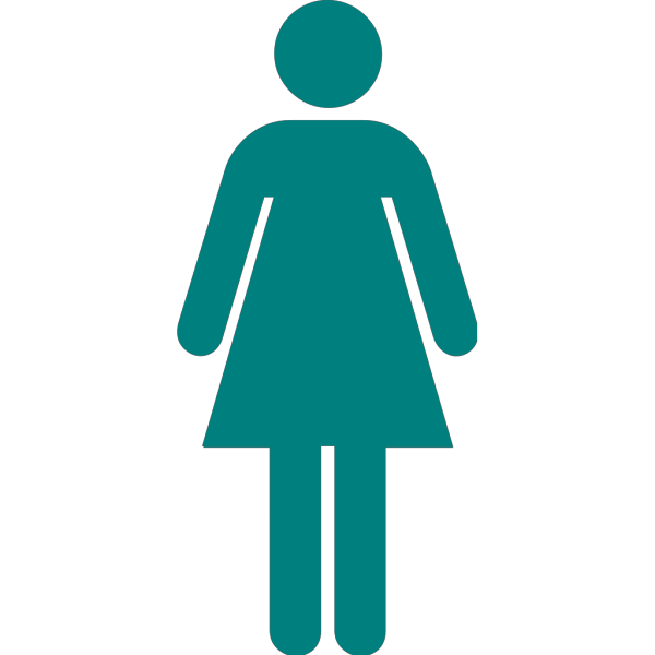 Blue Green Woman PNG Clip art