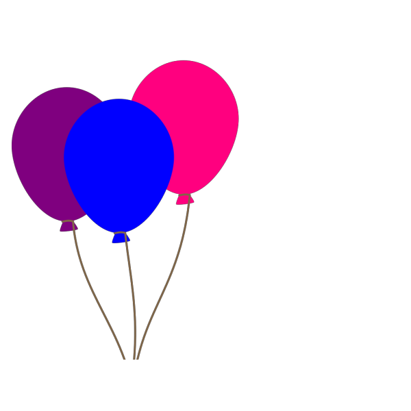 Colourful Balloons  PNG Clip art