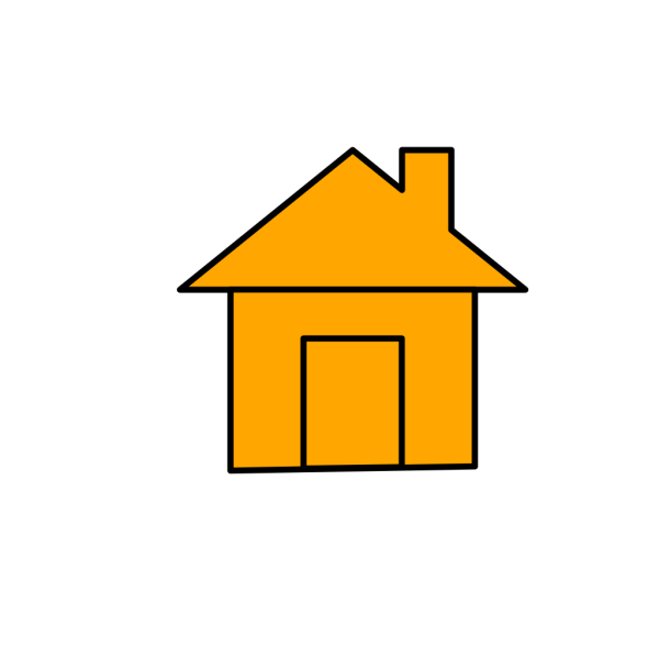 Blue And Orange House Icon PNG Clip art