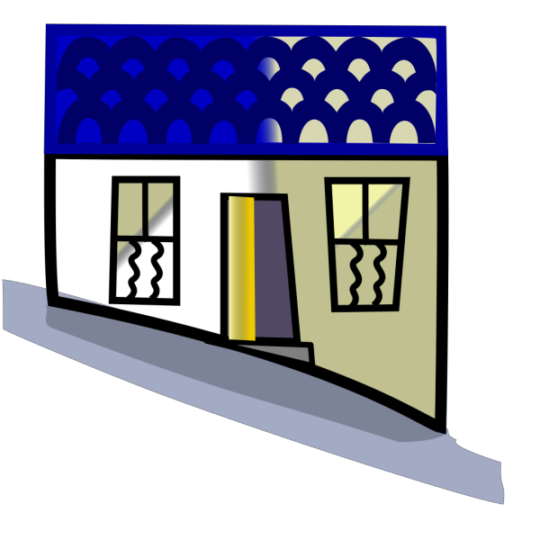 Home On A Hill PNG Clip art