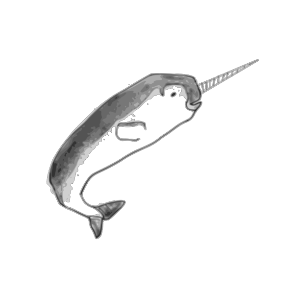 Narwhal Blue PNG Clip art