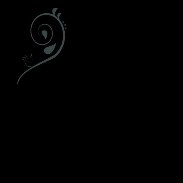 Blue Swirl Corner PNG Clip art
