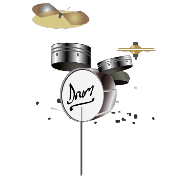 Blue Drum Set PNG Clip art