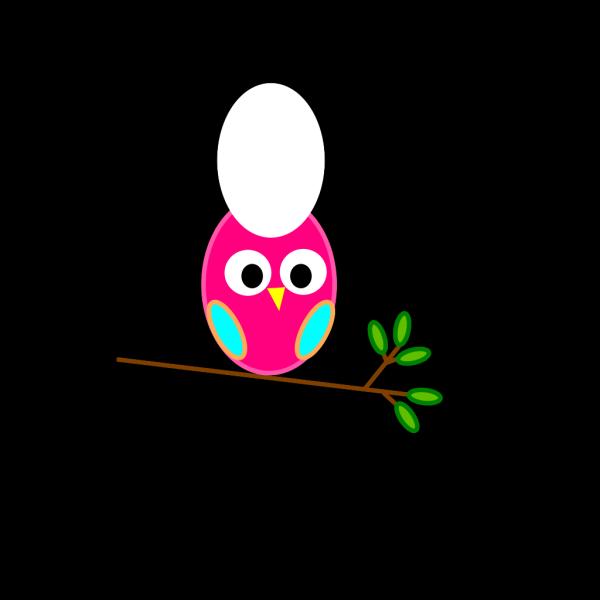 Pink & Blue Owl PNG Clip art