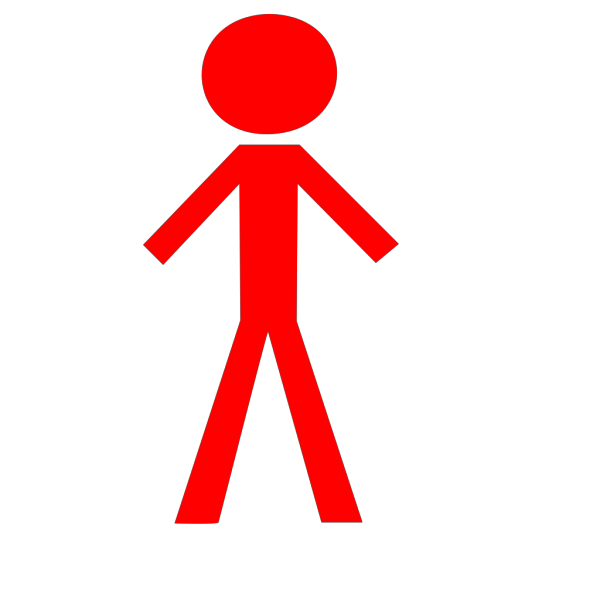 Boy And Girl Stick Figure - Red PNG Clip art