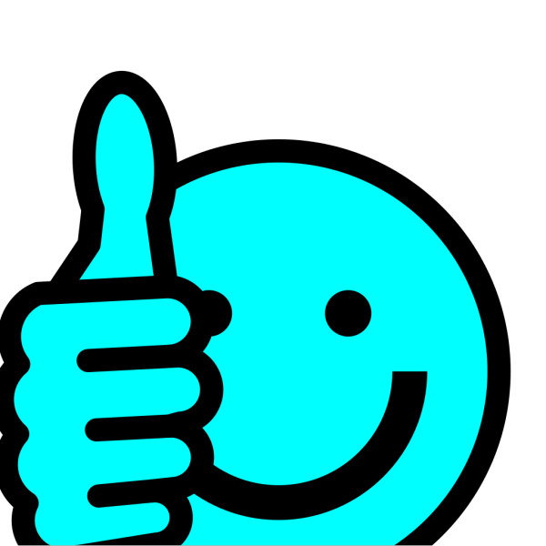 Baby Blue Thumbs Up PNG Clip art