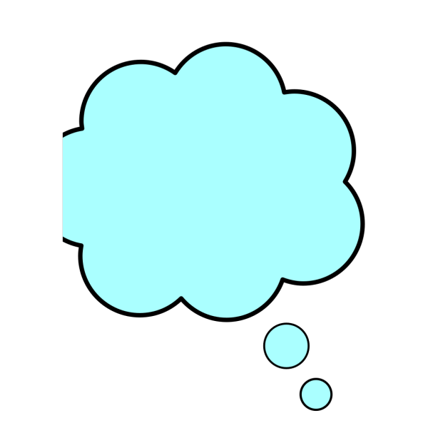 Blue Thought Bubble PNG clipart