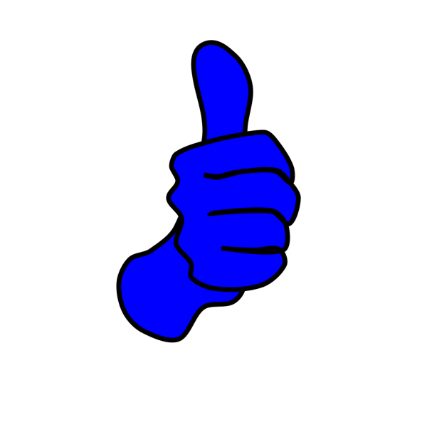 Blue Thumbs Up PNG Clip art