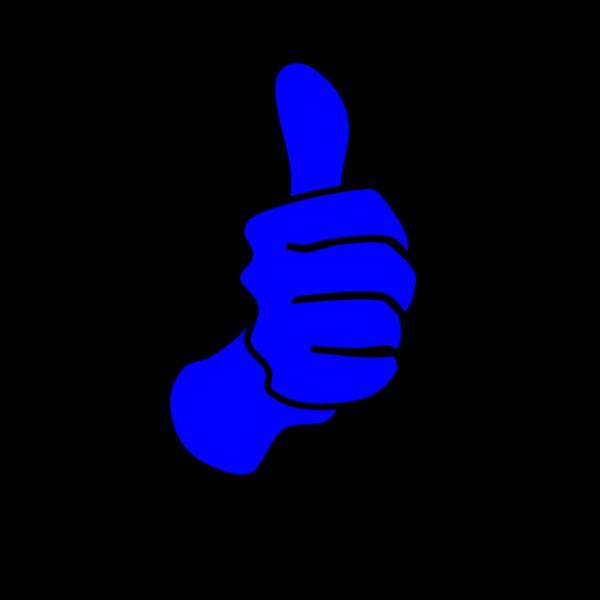 Blue Thumbs Up PNG Clip art