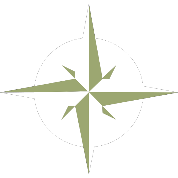 White Compass Rose PNG Clip art