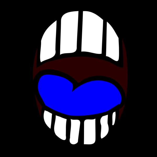 Mouth - Open - Blue Tounge PNG Clip art
