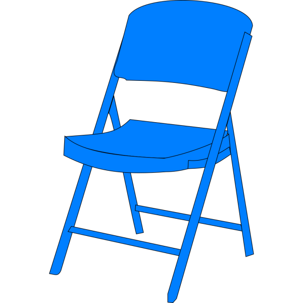 Blue Chair Fold Up PNG Clip art