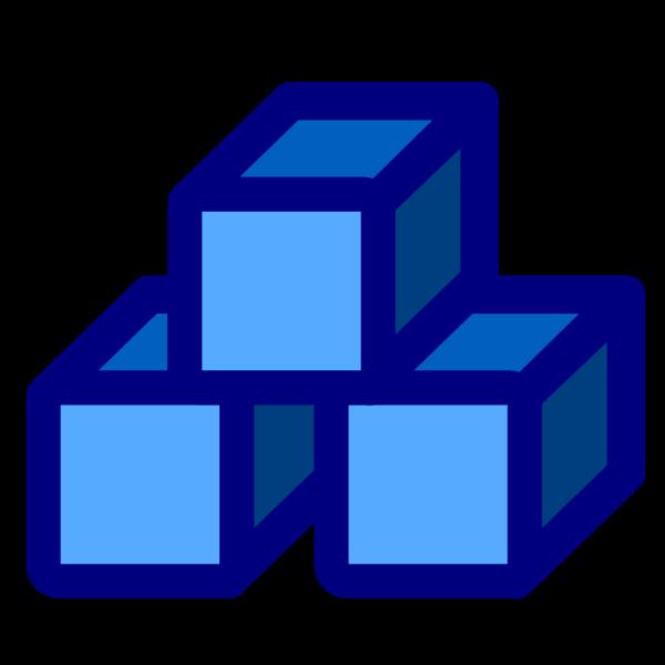 Blue Blocks PNG Clip art
