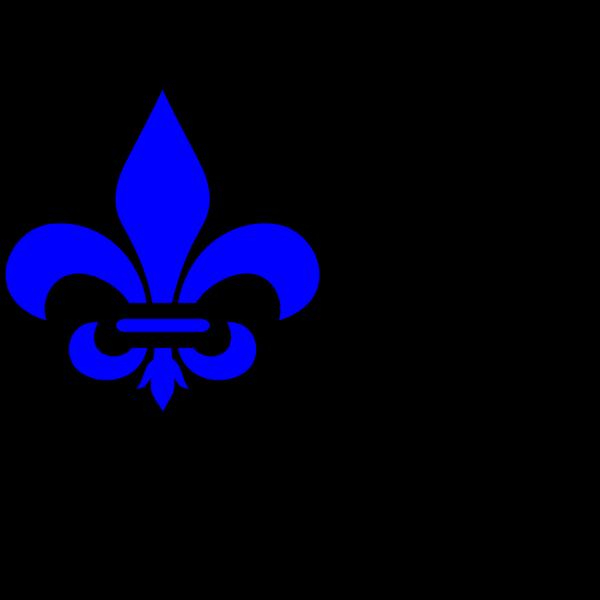 Blu Fleur De Lis PNG Clip art