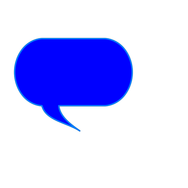 Blue Talk Bubble PNG Clip art