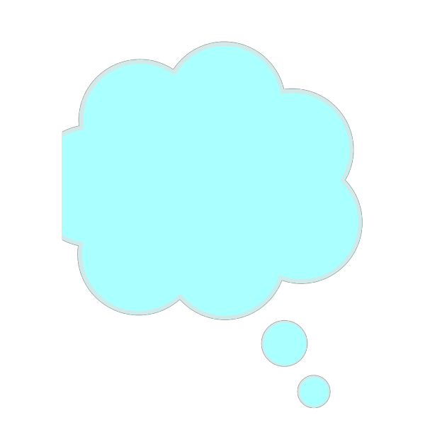 Baby Blue Thought Bubble PNG Clip art