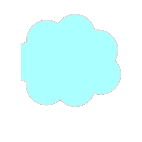 Blue Thought Bubble PNG Clip art