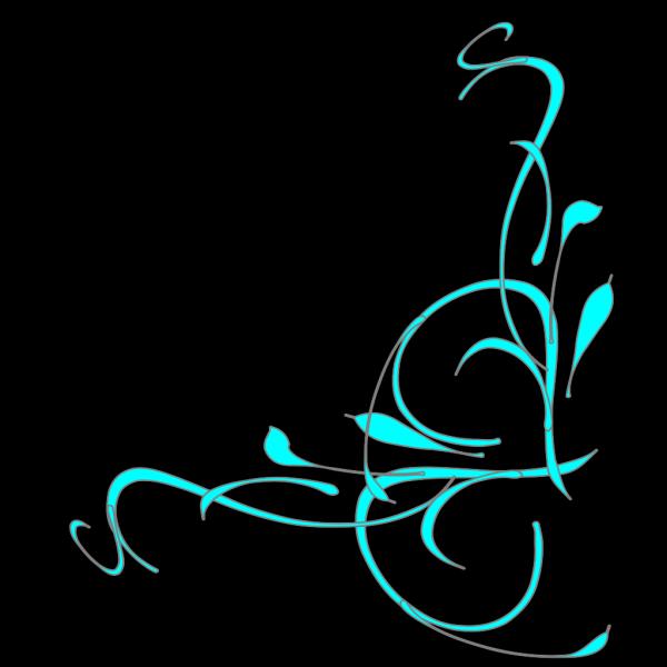 Monogram Corner PNG Clip art