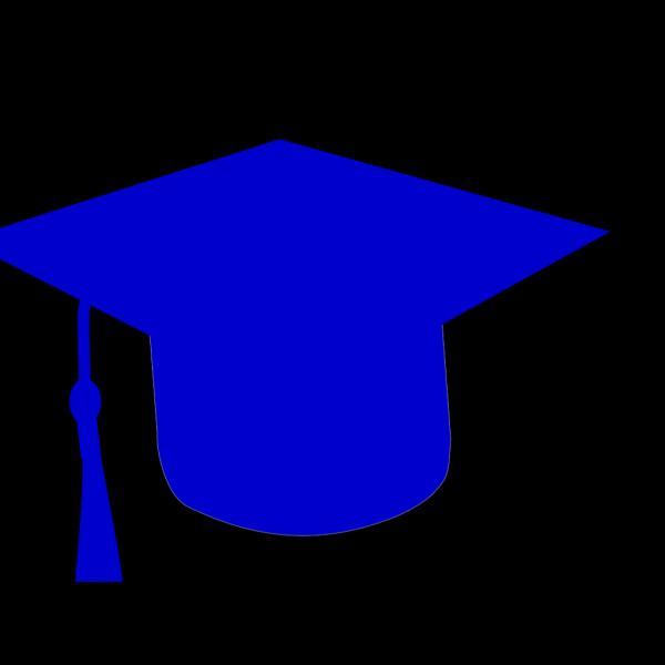 Graduation Hat Silhouette Blue PNG Clip art