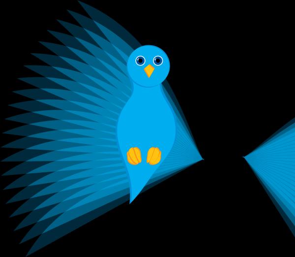 Bird Silhouette Blue PNG Clip art