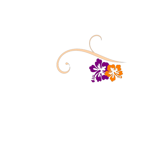 Hibiscus Swirl PNG Clip art