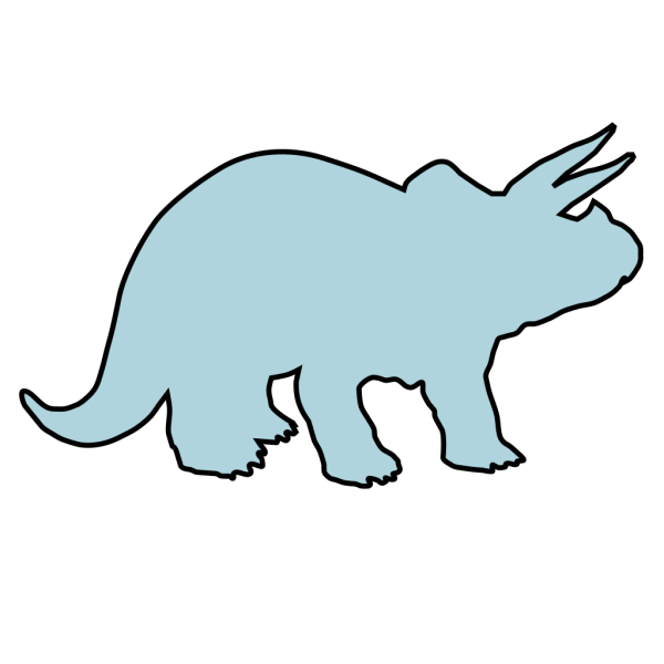 Light Blue Triceratops PNG Clip art