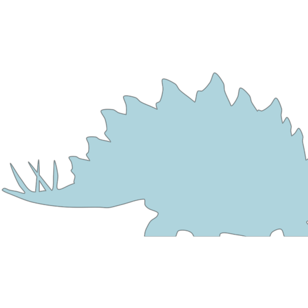 Blue Stegosaurus  PNG Clip art