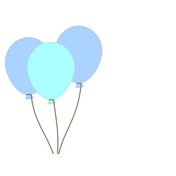 Blue Balloons PNG Clip art