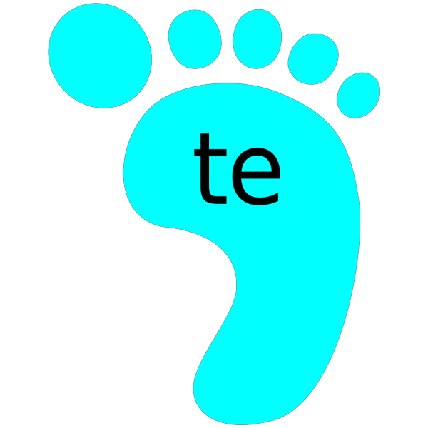 Footprint Blue Right Te PNG images
