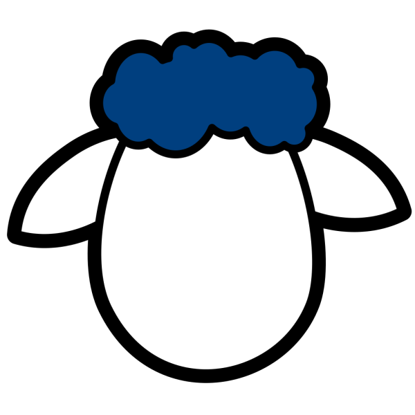 Blue Counter Sheep PNG Clip art
