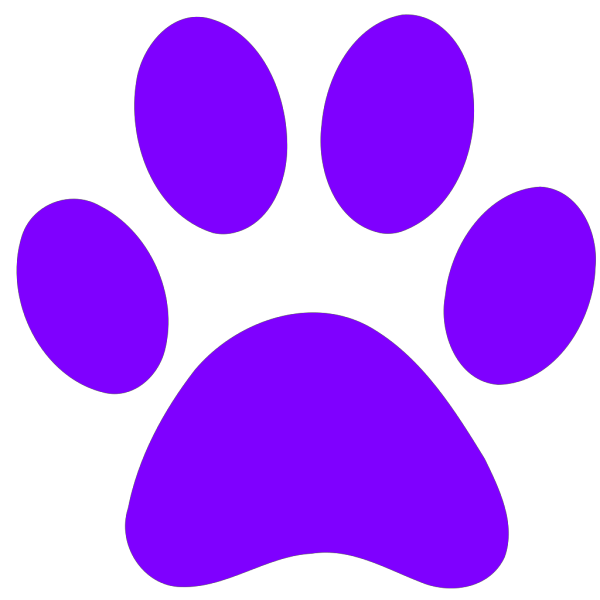 Blues Clues Purple Paw PNG clipart