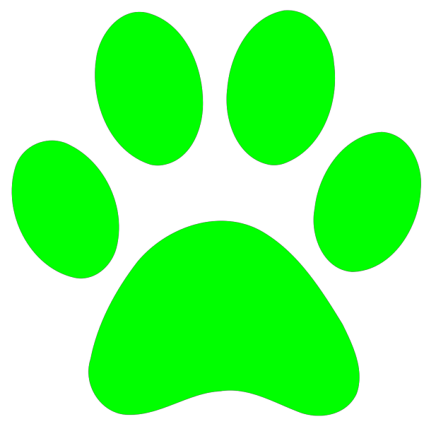 Blues Clues Green Paw PNG Clip art