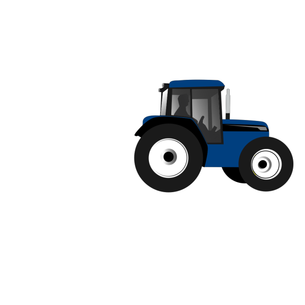 Tractor-blue PNG clipart