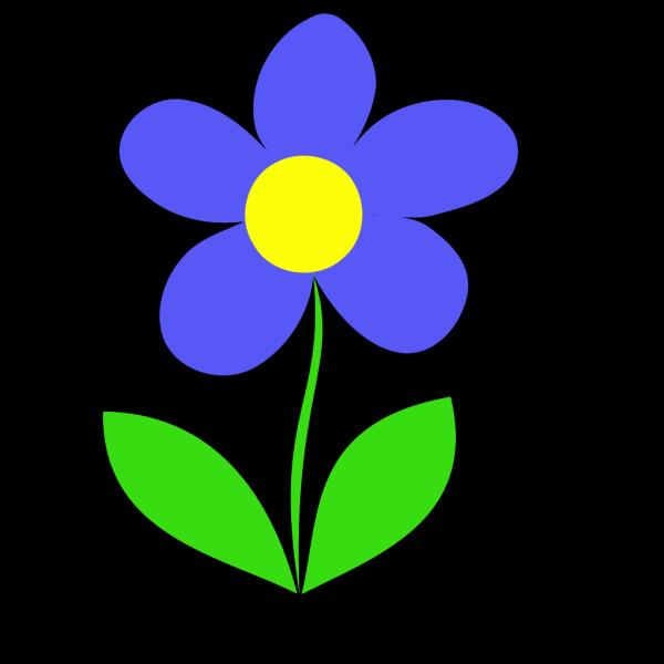 Blue Flower Letter D PNG Clip art