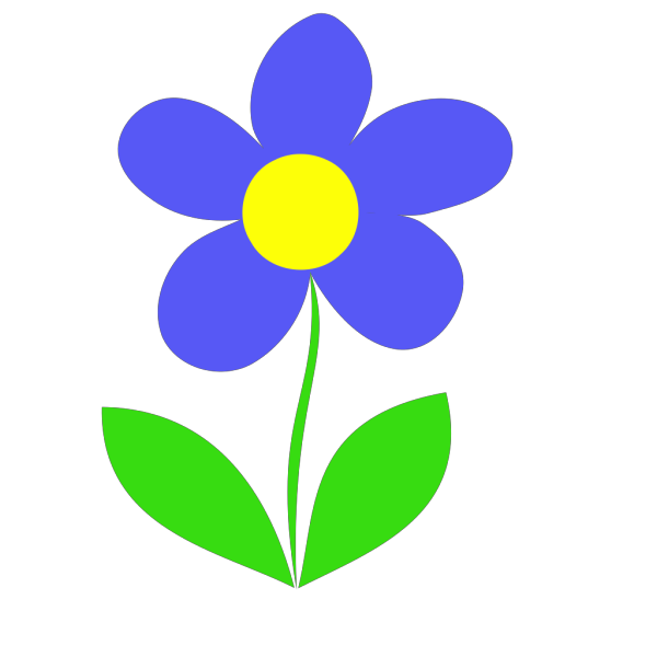 Blue Flower Intro PNG clipart