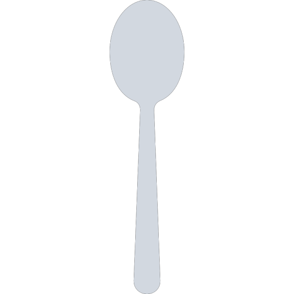 Blue Spoon Silhouette PNG Clip art