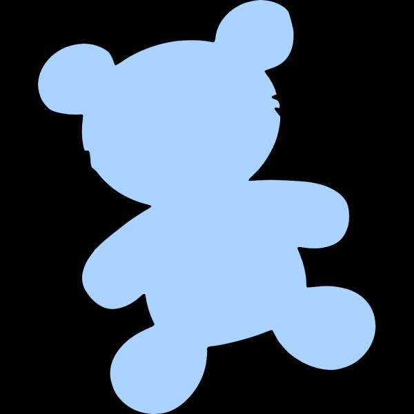 Blue Teddy PNG Clip art