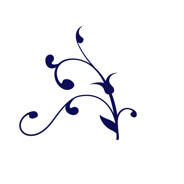 Navy Blue Swirl PNG Clip art