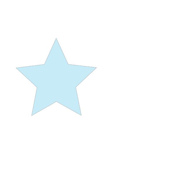 Light Blue Star PNG icons