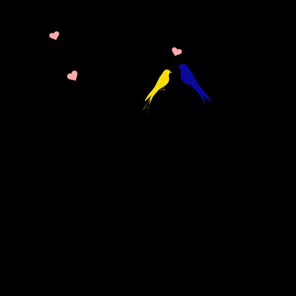 Birds On A Branch Purple-orange PNG Clip art