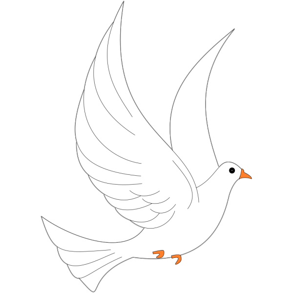 Flying Dove PNG Clip art
