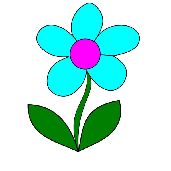 Blue Flower PNG clipart