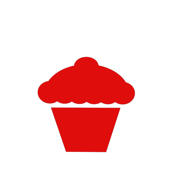 Blue And Red Cupcake PNG Clip art