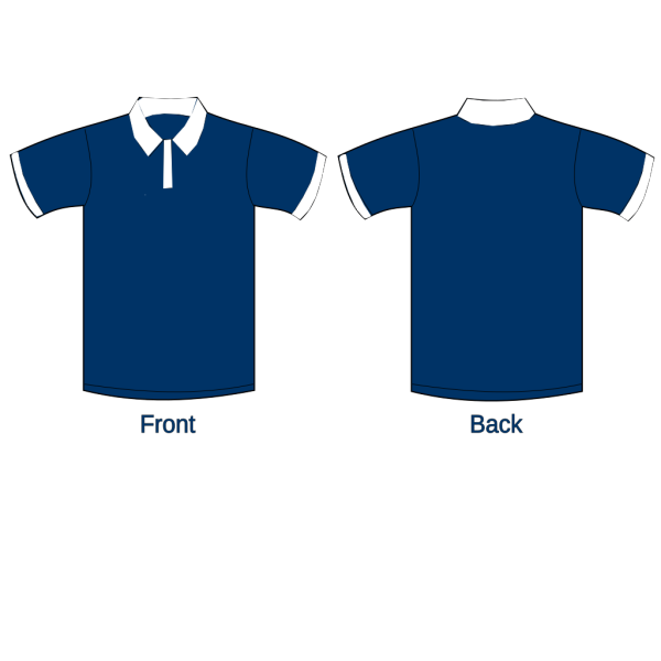 Polo Shirt Sleeves Navy Blue2 PNG Clip art