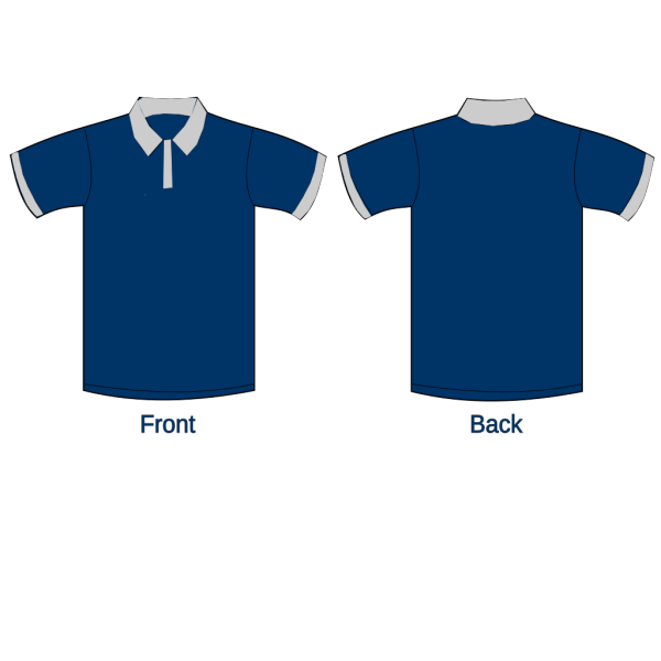 Polo Shirt Sleeves Navy Blue3 PNG Clip art